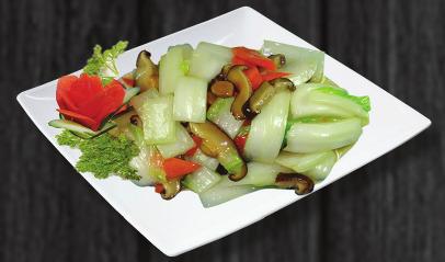 113. Smažené čínské zelí s bambusem a houbami - 149 Kč