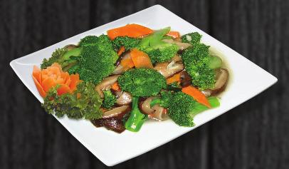 114. Smažená brokolice s houbami - 159 Kč
