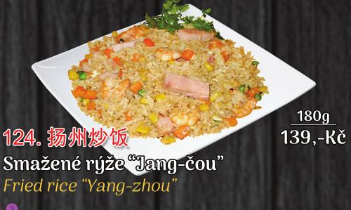 124. Smažená rýže Jang-čou - 139 Kč