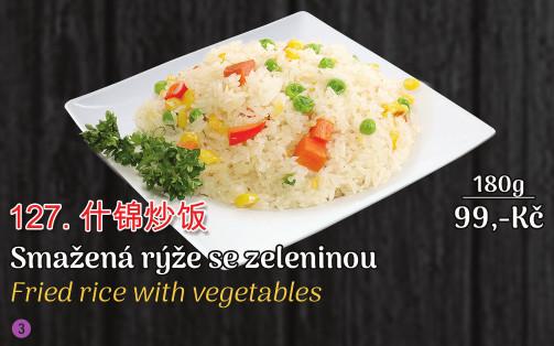 127. Smažená rýže se zeleninou - 99 Kč