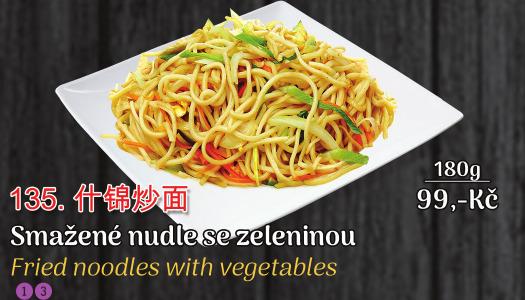 135. Smažené nudle se zeleninou - 99 Kč