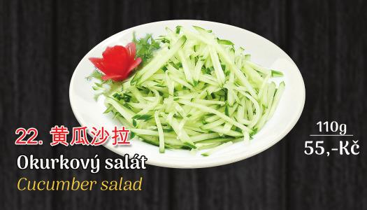22. okurkový salát - 55 Kč