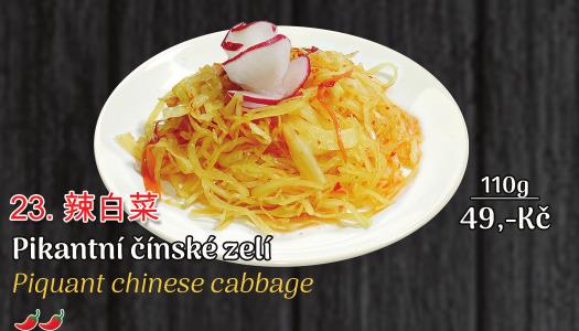 23. Pikantní čínské zelí (pálivé) - 49 Kč