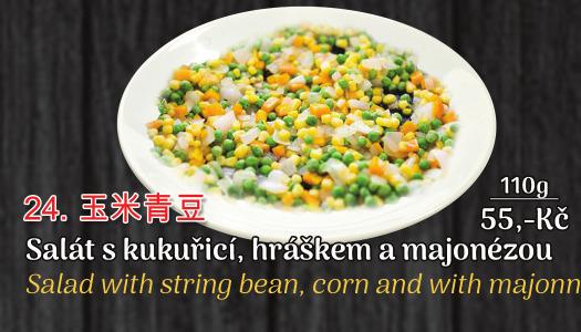 24. Salát z kuřecích nudliček s majonézou - 55 Kč