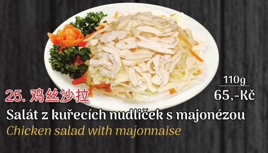 25. Salát s kukuřicí, hráškem a majonézou - 65 Kč