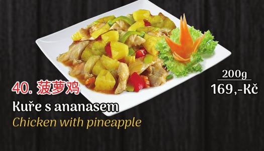 40. Kuře s ananasem - 169 Kč