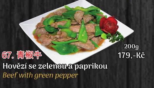 67. Hovězí se zelenou paprikou - 179 Kč