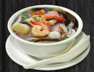 8. polévka s mořskými plody - 79 Kč