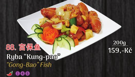 88. Ryba Kung – Pao (jemně pálivé) - 159 Kč
