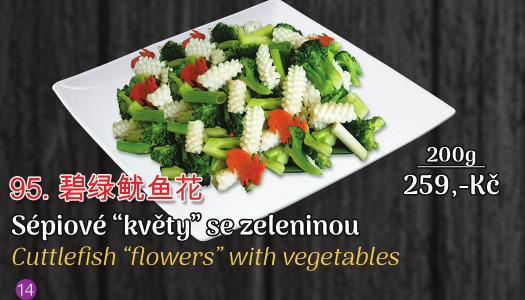 95. Sepiove květy se zeleninou - 259 Kč