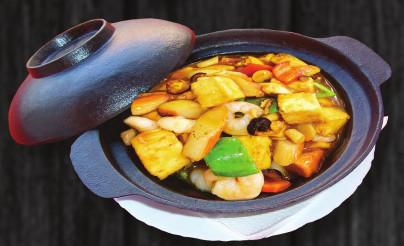 S8. Specialni smés morskych plodů a tofu v kotlíku - 279 Kč