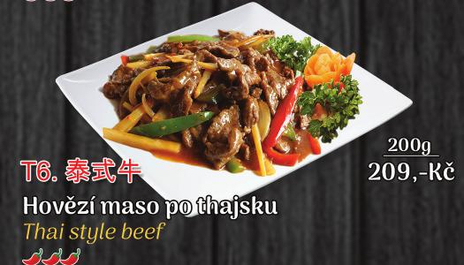 T6. Hovězí maso po thajsku - 209 Kč